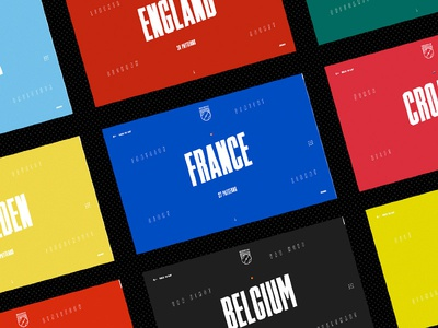 World cup in Pattern - Page worldcup russia ui design interface football