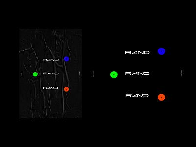 Rand 001 - Logotype rand r branding logo logotype
