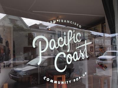 Pacific Coast Vinyl typography logo hand lettering vinyl branding design