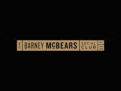 Barney McBears lettering identity logo branding design