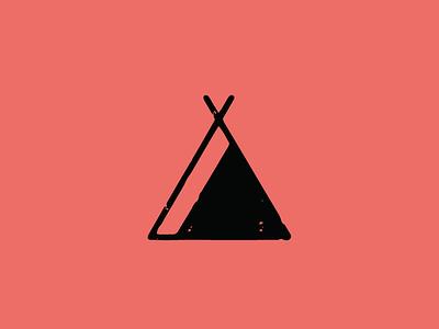 Let's Go Camping icon identity logo branding design