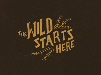 The Wild Starts Here hand lettering typography lettering icon identity logo branding design