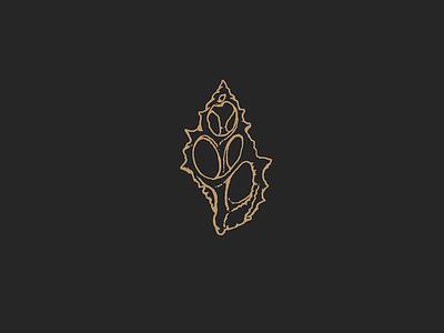 Sea Shell icon identity logo branding design