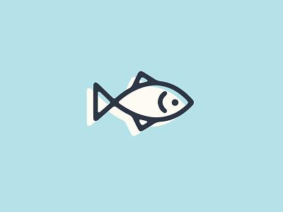 Fishy identity branding illustration lettering design