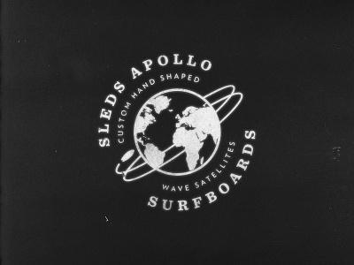 Sleds Apollo  illustration hand lettering identity logo branding design