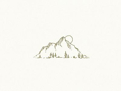 Made in the Mountains logo identity branding illustration design