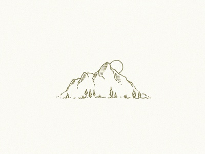 Made in the Mountains logo identity branding illustration design