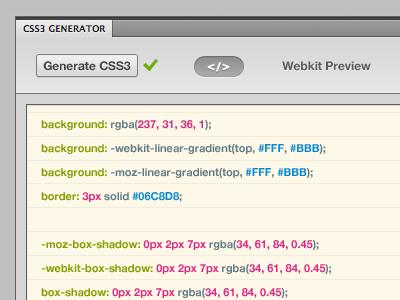 Photoshop CSS3 Layer Styles Plugin css3 photoshop plugin button code panel photoshop plugin