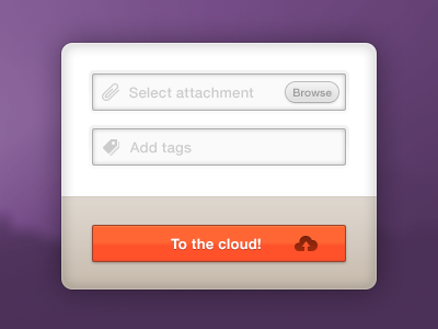 To The Cloud cloud upload attachment tags browse icons
