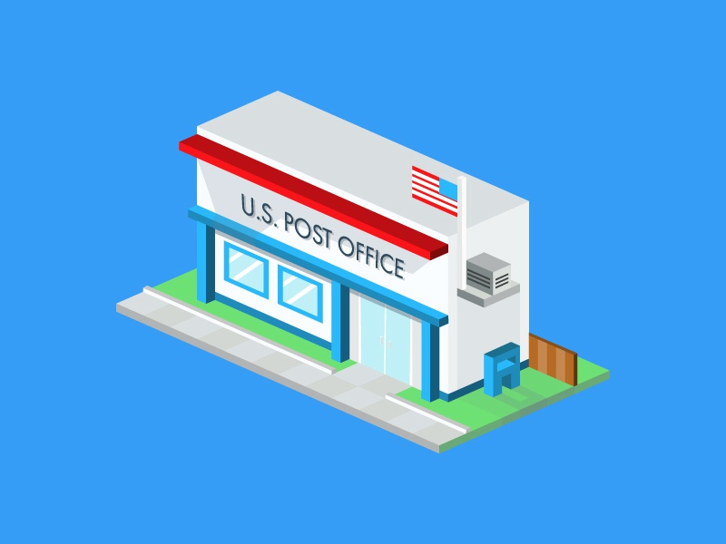 Post Office post office isometric