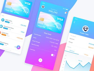 Wallet App Concept wallet visa ui payment money fintech financial creditcard app