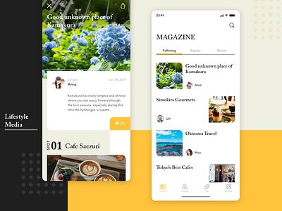 Lifestyle App ui flower cafe food magazine media lifestyle app