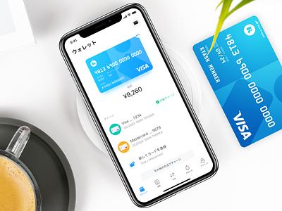 Kyash App wallet visa ui payment money kyash ios creditcard app