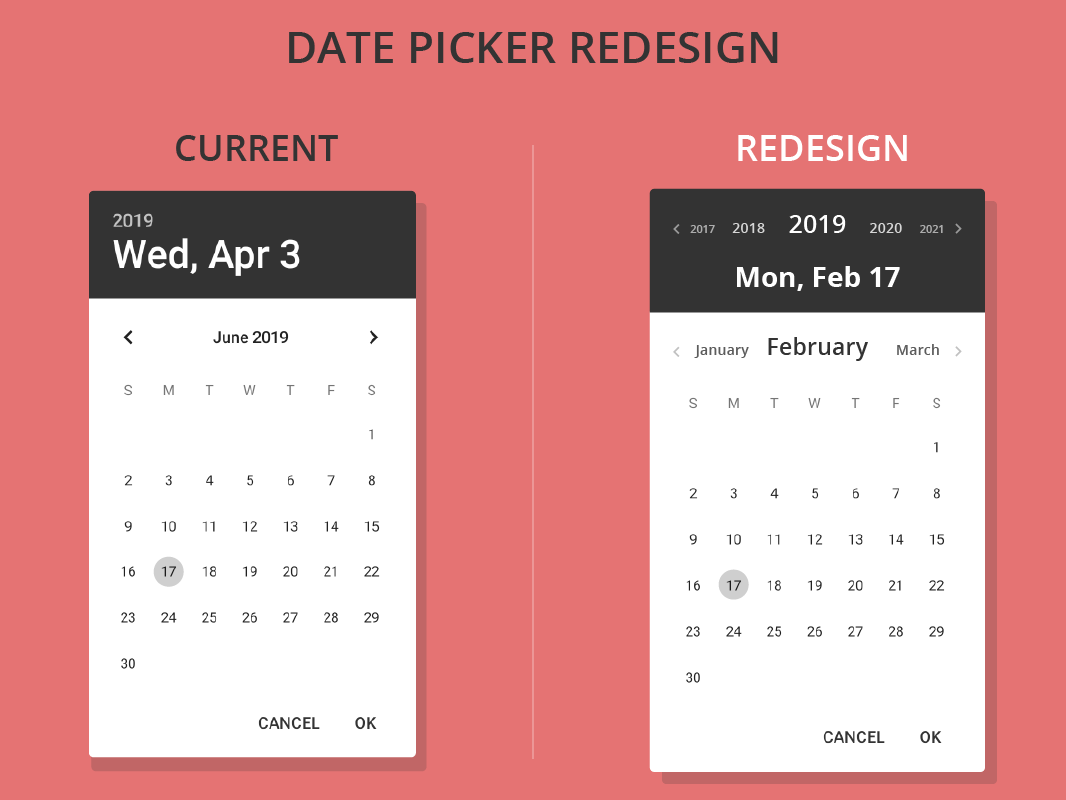 Android Image Picker android date picker redesign conceptallwin williams on