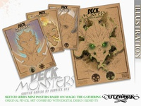 Derrick Utz   - Deck Monsters Sketches