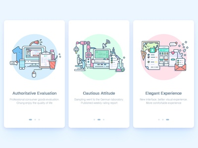 Guide pages app illustration ui pages guide