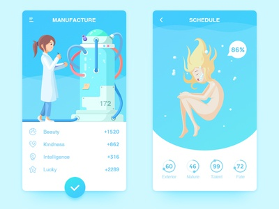 Create Human APP and Illustration create manufacturing science illustration human
