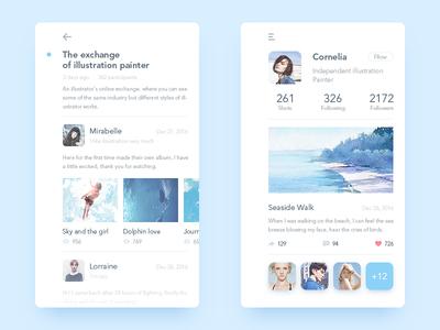 Illustrator Online Communication app user communication illustrator ui