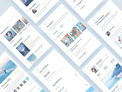 Illustrator Online Communication app pay user communication illustrator ui