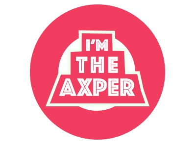 I'm the axper minimal logo illustration icon flat design branding