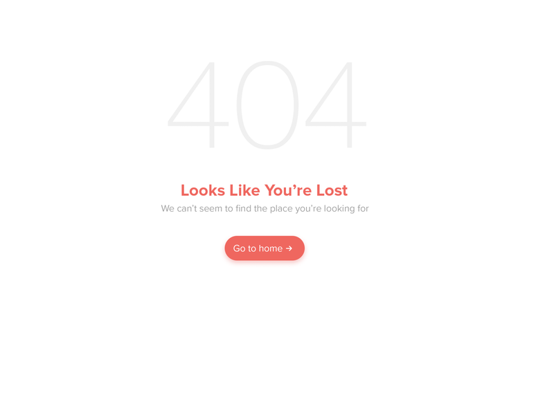 404 design website web app ui ux typography minimal 404 error page 404 error 404