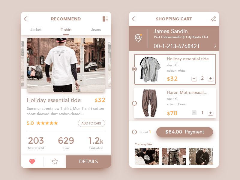 Ecommerce App by Ink Glow on Dribbble