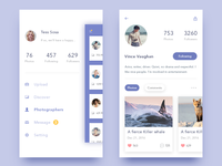 photo-sharing app - PSD