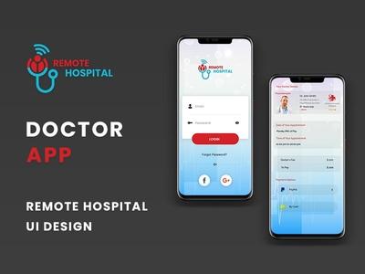Online Remote Hospital App UI online hospital app online doctor app ui