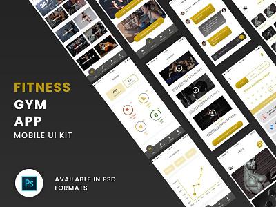 Online Gym Fitness App UI best ui designs kit best ui designs kit