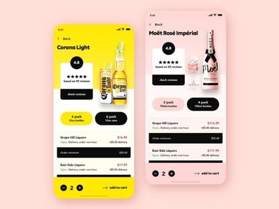 Liquor app design UI kit wine app design liquor app deisgn android app design ios app design android app storage app grocery app food app ecommerce app best ui kit beer app liquor app