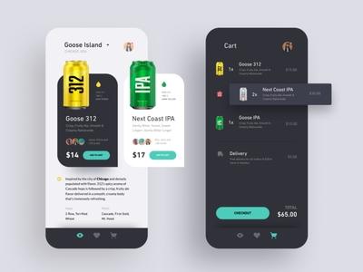 Drink Bar app UI kit ui kit best ios ui ecommerce app ui best android ui beer app ui liquor app design