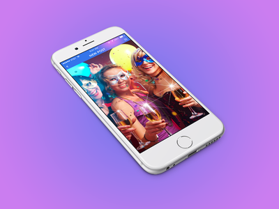 Party, Events & Friends Finder App andriod ios discovery cards editing video mobile app friends events party