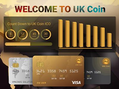 Card design fab colors. coin design