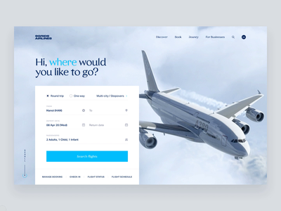 Airline responsive web