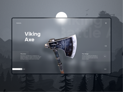 Viking Axe landing page ui dark website uidesign clear ui ux simple clean elegant minimal