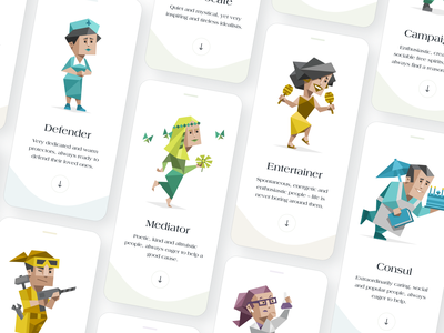 Personality Mobile App concept app mobile personality white illustration clear ui ux elegant simple clean minimal