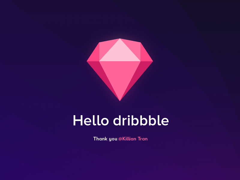 Hello Dribbblers! sketch hello dribbble