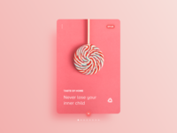 016 Daily UI Challenge for 100 days: Lollipop Lover