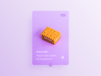 017 Daily UI Challenge for 100 days: Cream & Biscuit