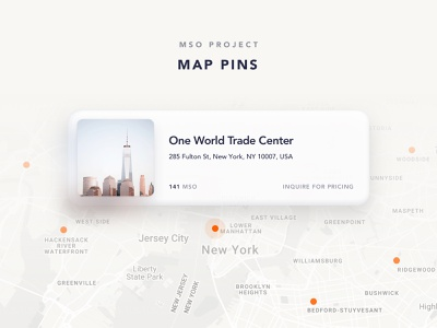 034/100 Daily UI: Map Pins pin maps uidesign daily 100 clear clean dribbble sketch simple elegant ui ux minimal