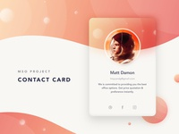 035/100 Daily UI: Contact Card