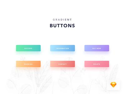 039/100 Daily UI : [Freebie] Gradient Button freebie free dowload button daily 100 uidesign clear clean dribbble sketch simple elegant ui ux minimal