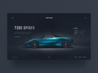 041/100 Daily UI : McLaren 720S Spider Intro