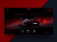 042/100 Daily UI : Lamborghini SC18 Intro