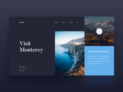 044/100 Daily UI : 9grids project - Travel