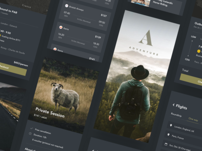 049/100 Daily UI : Travel App - Showcase (Dark Mode)