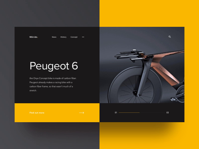 Electric Bike landing page website animation dribbble daily 100 clear clean simple elegant ui ux minimal