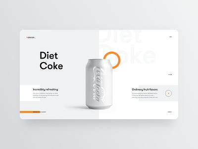 DietCoke light website clear clean ui ux simple elegant minimal