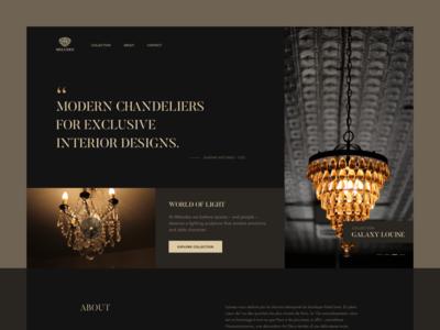 Meludes Website Concept