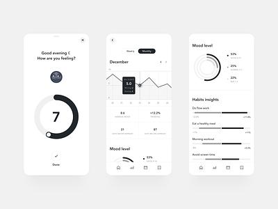 Ladder - App of Meditation interaction mobile app uidesign clear ui ux simple clean elegant minimal